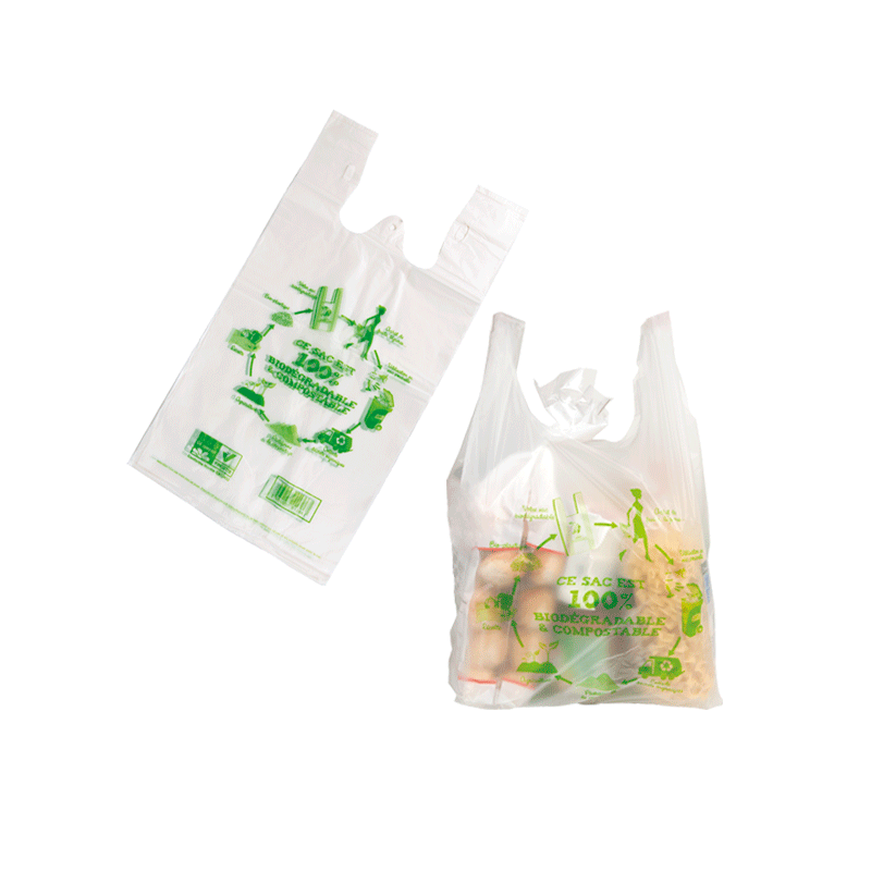 Sac  biodegradable en plastique